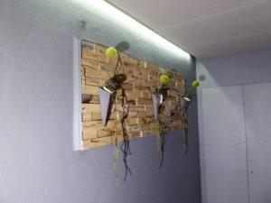 parement mural 3d bois recyclé hevea